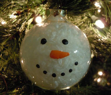 glass snowman ornament craft idea