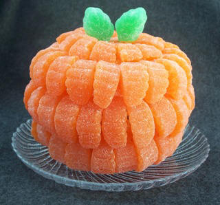 how to make a pumpkin centerpiece from gumdrops