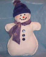 Learn to sew snowman pattern