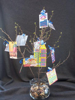 Crafts make a lottery tree or money tree craft elf craft ideas for gift giving negle Choice Image