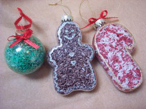 how to make Rice filled Christmas ornaments
