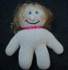 how to make a doll; knit glove
