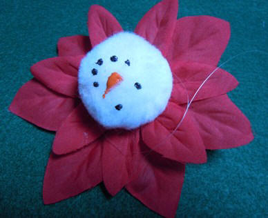 How to make a snowman Christmas ornament craft