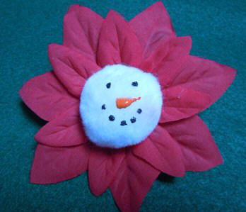 Christmas decorations ornaments - Snowman flower ornament