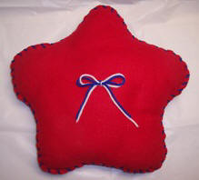 Teach kids to sew wtih this free easy star pillow pattern and instructions.