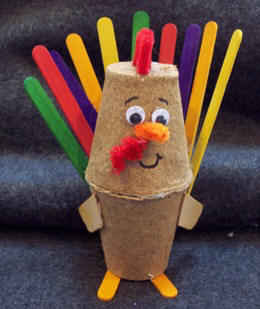Thanksgiving Craft Ideas Adults on Peat Pot Turkey Thanksgiving Craft For Kids