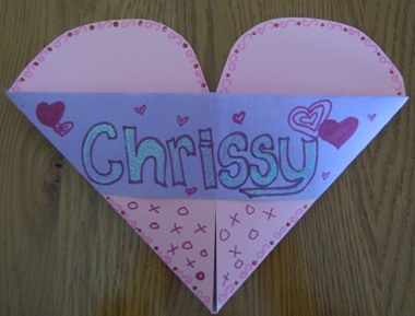 How To Make A Valentine Card Holder