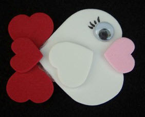 free fish magnet craft instructions using craft foam hearts