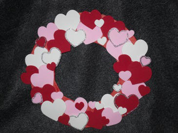 Craft Ideas Hearts on Day With This Easy Wreath Project Made From Craft Foam Hearts