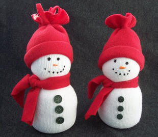 Sock snowman easy kids craft winter crafts for How to make winter crafts