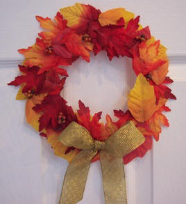 how to make an easy leaf wreath