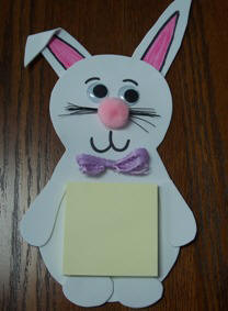 free craft instructions to make a magnetic Easter bunny note holder