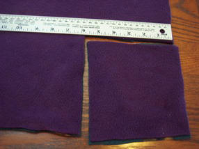 step 1 making a no-sew fleece blanket - cut out the corners