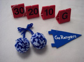 football ornaments - craft