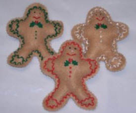 gingerbread pattern to make felt ornaments