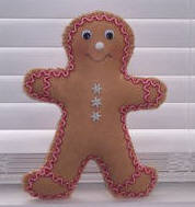 gingerbread man sewing pattern for kids