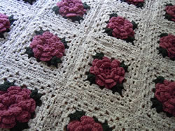 Free Crochet Rose Square Pattern : free crochet patterns, afghan patterns