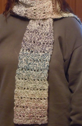 crochet pattern homespun scarf