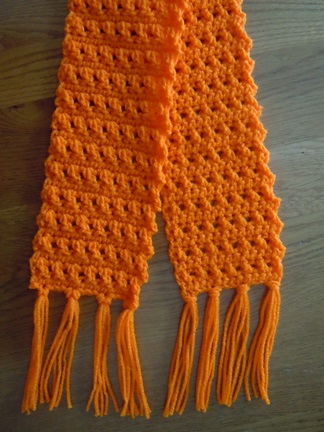 Crossed Double Crochet Scarf