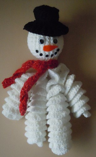 Crochet Snowman Curly arms and legs