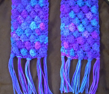 Knit Popcorn Stitch Hat Pattern : popcorn stitch scarf crochet pattern