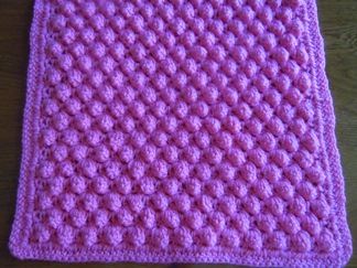 afghan crochet pattern using the popcorn stitch