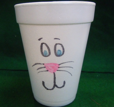 Easter bunny crafts; Bunny party cups