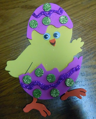 Easter chick in egg pattern