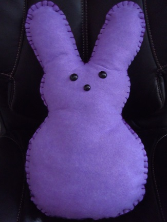 Easter bunny peep pillow pattern