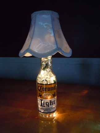 up cycling beer bottles - corona lights