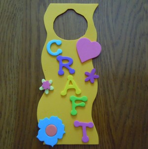 how to make a craft foam door hanger