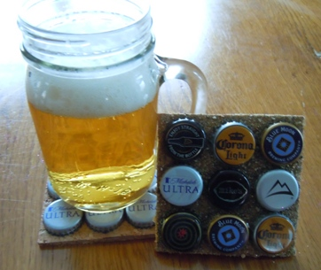 how to make a coaster from beer caps