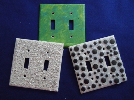 how to decorate light switch plates