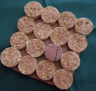 how to make wine cork coasters