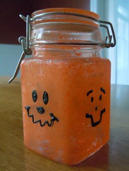 pumpkin candy jar, halloween craft