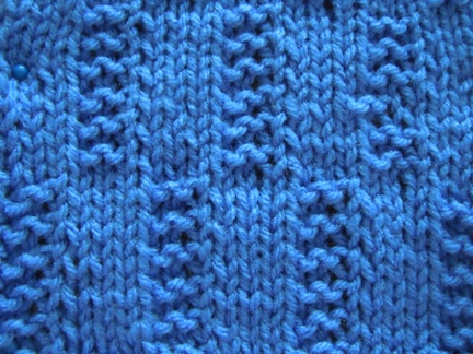 how to knit using centipede stitch pattern