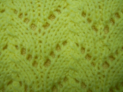horseshoe print knitting pattern