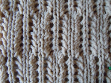 Feather Knitting Pattern : Alternating feather openwork knitting stitch; how to knit