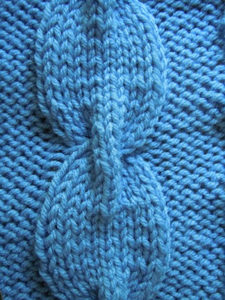 Cable with bridge knitting stitch; how to knit