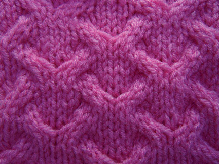 Cable Lace Knitting Stitches : Cable with Lace Detail knitting stitch; how to knit