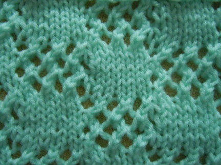 checkerboard lace knitting pattern