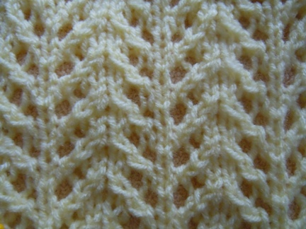 Knitting Stitches Chevron : Chevron rib knitting stitch; how to knit