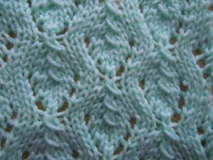 clover stitch knitting pattern