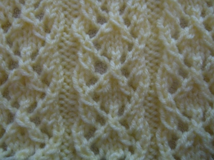 diamond rib knitting pattern