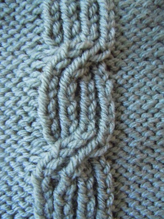 Cable Stitch Knitting Patterns : Four Section Cable knitting stitch; how to knit