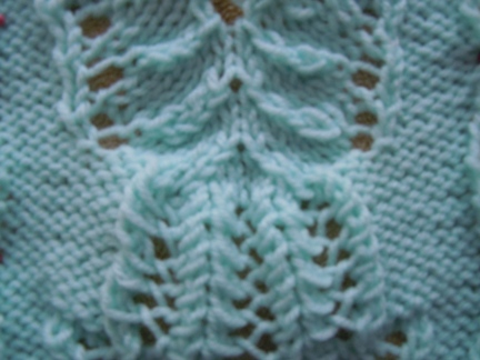 frost flower panel knitting pattern