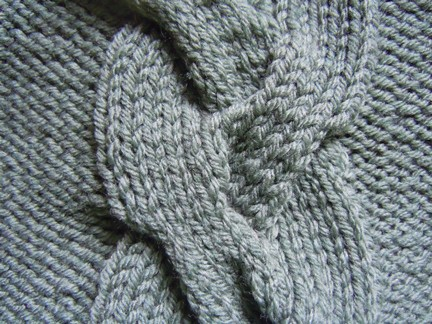 free knitting pattern; giant braid cable stitch