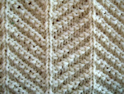 herringbone texture knitting pattern