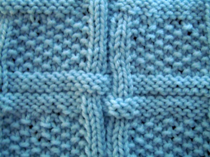 intertwined texture knitting pattern