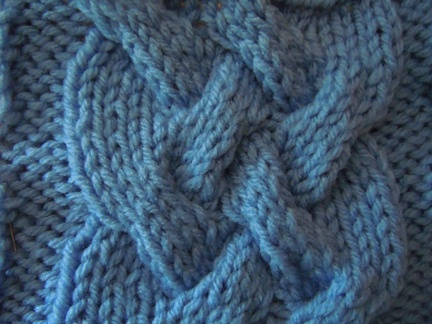 large woven cable knitting pattern
